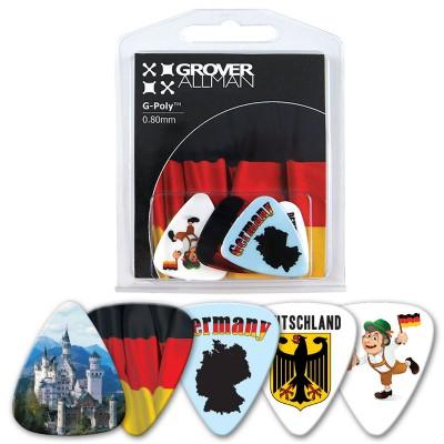 GROVER ALLMAN BLISTER 5 GUITAR PICKS GERMANY