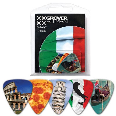 GROVER ALLMAN BLISTER 5 GUITAR PICKS ITALIA