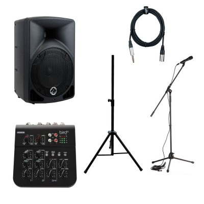 EAGLETONE LIVE SPEAKER ACTIVE + MIXING DESK + STAND + MIC