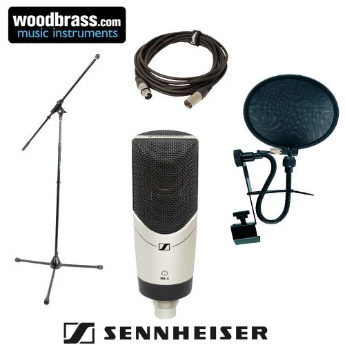 SENNHEISER MK 4 + ANTI POP + MIC STAND + CABLE