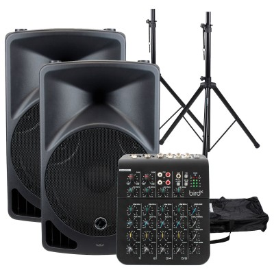 EAGLETONE BUNDLE EPS15 V2 + STANDS + MIXING TABLE
