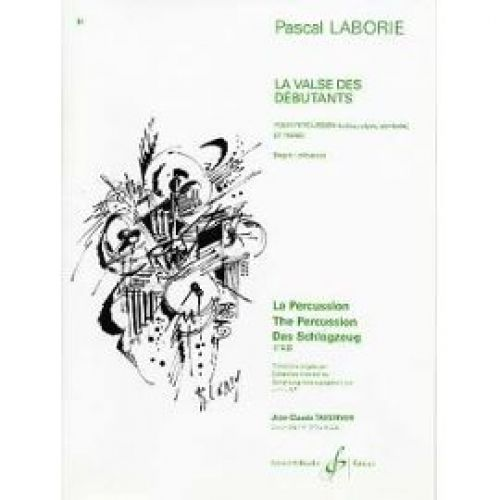 BILLAUDOT LABORIE PASCAL - LA VALSE DES DEBUTANTS - PERCUSSION (CAISSE CLAIRE, CYMBALE), PIANO