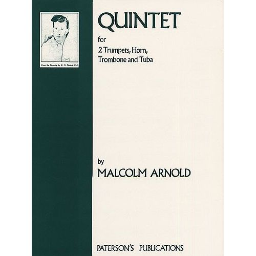 MUSIC SALES ARNOLD MALCOLM - QUINTET FOR BRASS OP. 73 - TUBA