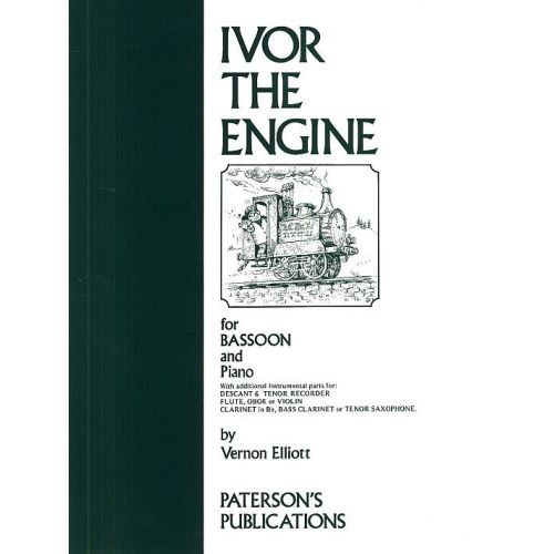 MUSIC SALES ELLIOTT VERNON - IVOR THE ENGINE FOR BASSOON AND PIANO