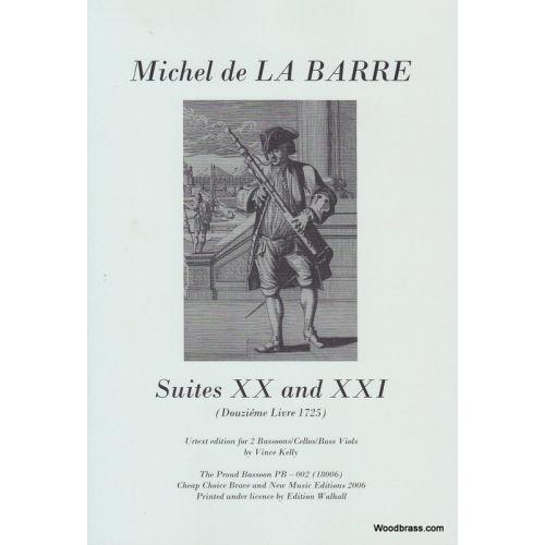 CCBN PUBLICATIONS DE LA BARRE M. - SUITES XX ET XXI - DEUX BASSONS (DEUX VIOLES)