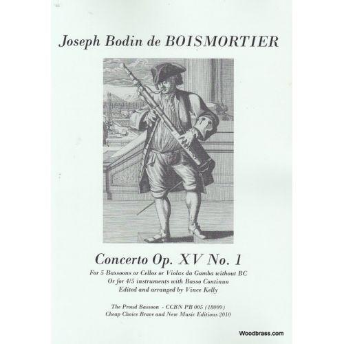 CCBN PUBLICATIONS BOISMORTIER J. (BODIN DE) - CONCERTO B-DUR OP. 15/1 - 5 BASSONS