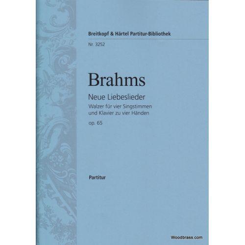 EDITION BREITKOPF BRAHMS J. - NEUE LIEBESLIEDER OP. 65