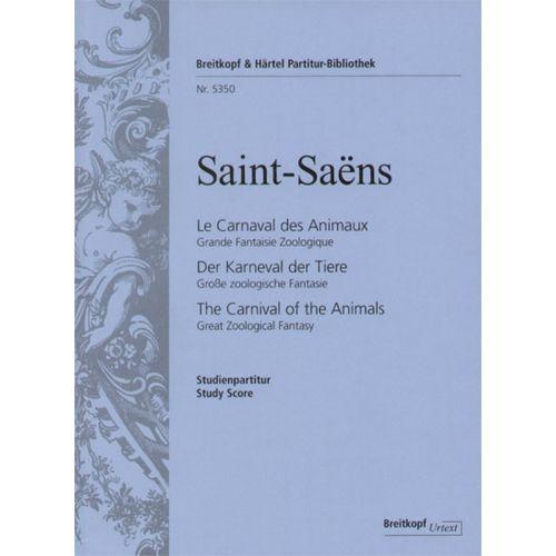 EDITION BREITKOPF SAINT-SAENS C. - LE CARNAVAL DES ANIMAUX