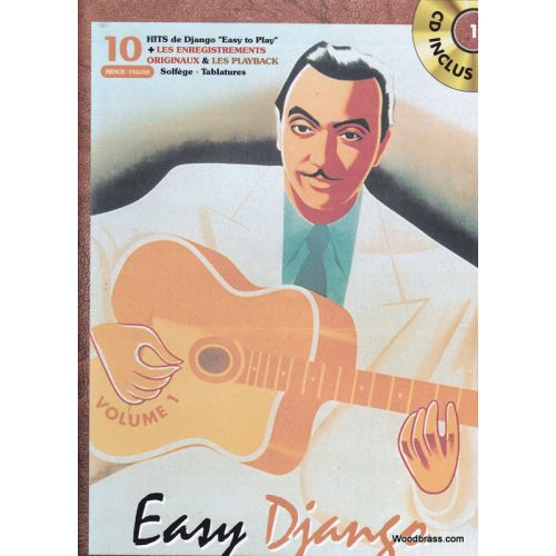 BOOKMAKERS INTERNATIONAL REINHARDT DJANGO - EASY DJANGO VOL.1 + CD - GUITARE TAB