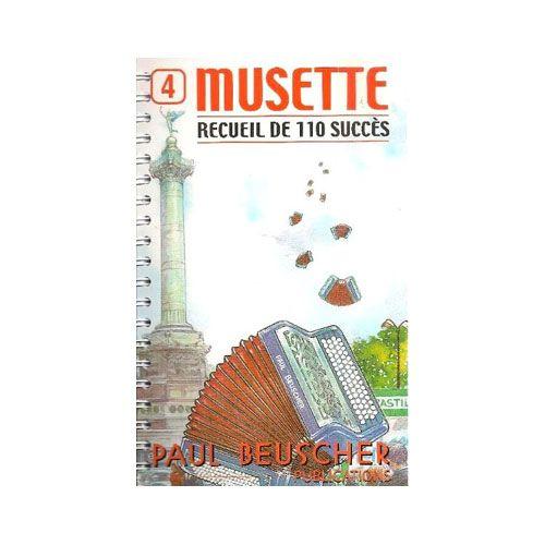 PAUL BEUSCHER PUBLICATIONS - SUCCES MUSETTE (110) VOL.4 - ACCORDEON