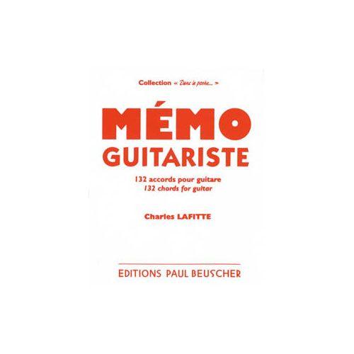 PAUL BEUSCHER PUBLICATIONS LAFITTE CHARLES - MEMO DU GUITARISTE - GUITARE
