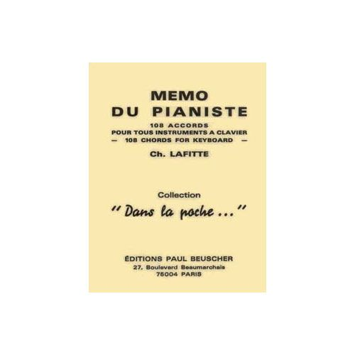 PAUL BEUSCHER PUBLICATIONS MEMO DU PIANISTE - PIANO