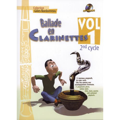 HIT DIFFUSION BALLADE EN CLARINETTE VOL.1 2EME CYCLE + CD