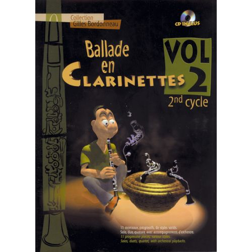 HIT DIFFUSION BALLADE EN CLARINETTE VOL.2 2EME CYCLE + CD