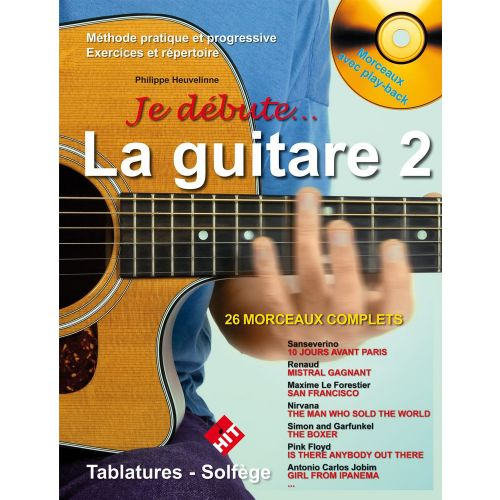 HIT DIFFUSION HEUVELINE P. - JE DEBUTE LA GUITARE VOL.2 + CD