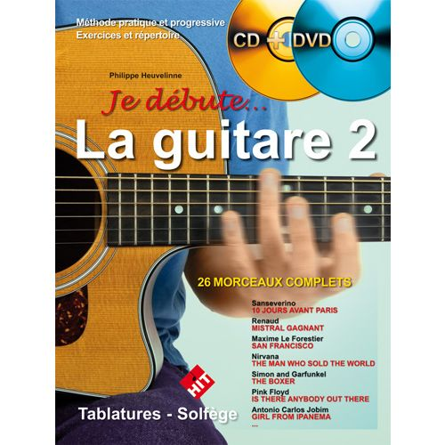 HIT DIFFUSION HEUVELINNE P. - JE DEBUTE LA GUITARE VOL.2 + CD + DVD