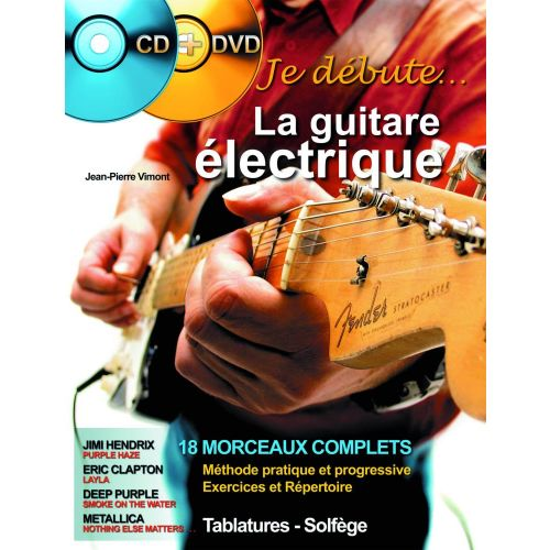 HIT DIFFUSION VIMONT J.P. - JE DEBUTE LA GUITARE ELECTRIQUE + CD + DVD