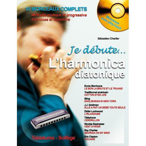 HIT DIFFUSION CHARLIER S. - JE DEBUTE L'HARMONICA DIATONIQUE + CD