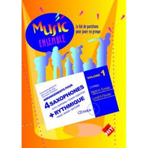 HIT DIFFUSION MUSIC ENSEMBLE VOL. 1 + CD - 4 SAXOPHONES + RYTHMIQUE