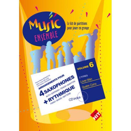 HIT DIFFUSION MUSIC ENSEMBLE VOL. 6 + CD - 4 SAXOPHONES + RYTHMIQUE