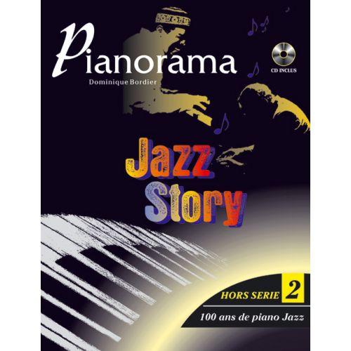 HIT DIFFUSION PIANORAMA HORS SERIE VOL. 2, JAZZ STORY 100 ANS DE PIANO JAZZ + CD