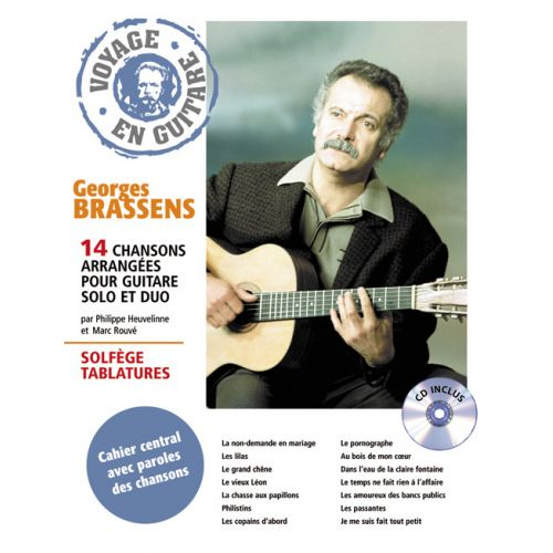 HIT DIFFUSION BRASSENS GEORGES - VOYAGE EN GUITARE + CD - GUITARE TAB