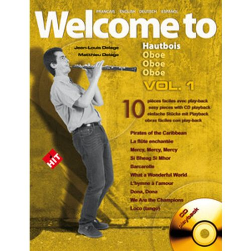 HIT DIFFUSION DELAGE JL&M - WELCOME TO OBOE VOL.1 + CD