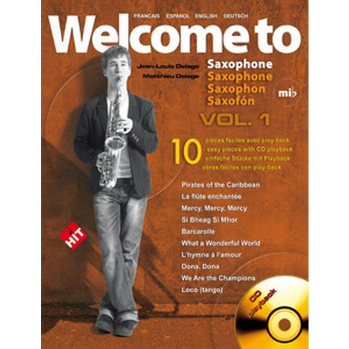 HIT DIFFUSION DELAGE JL&M - WELCOME TO SAXOPHONE MIB VOL.1 + CD