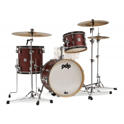 PDP BY DW CONCEPT CLASSIC WOOD HOOP 3 SHELLS 18,12,14 OX BLOOD STAIN - PDCC1803OB