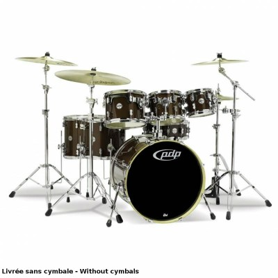 PDP BY DW CM7 CONCEPT MAPLE 7 FUTS 22/08/10/12/FT14/FT16/CCL 14X5 - TRANSPARENT WALNUT