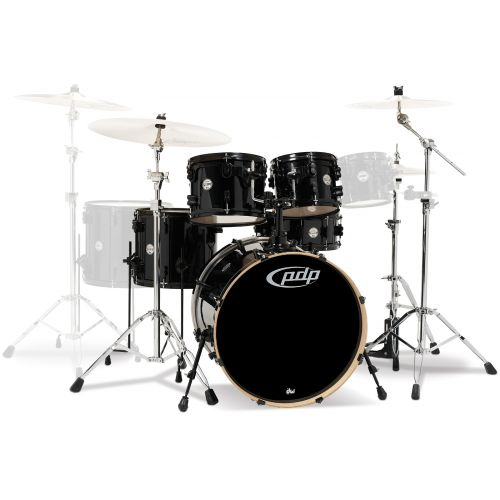 PDP BY DW CM5 CONCEPT MAPLE FUSION 20 20-10-12-14FT-14X5SD - SILVER TO BLACK SPARKLE