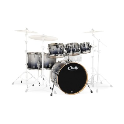 PDP BY DW CM7 CONCEPT MAPLE 7 FUTS 22/08/10/12/FT14/FT16/CCL 14X5 - SILVER TO BLACK SPARKLE