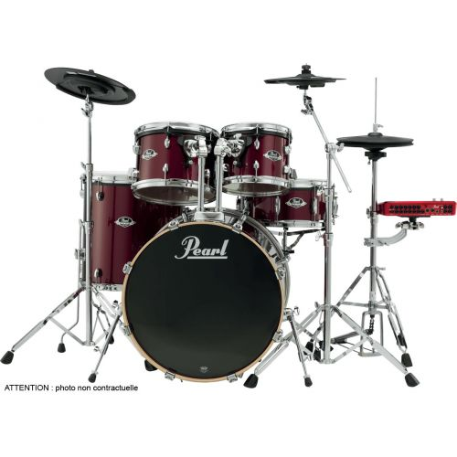 PEARL DRUMS EPEX725SC-91 ROCK 22 - 5 SNARE DRUMS - RHODOÏD RED WINE