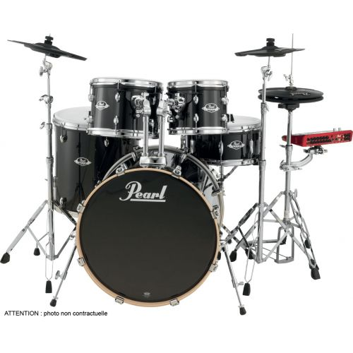 PEARL DRUMS EPEXL725SC-248 ROCK 22 - 5 SNARE DRUMS - VERNIS BLACK SMOKE