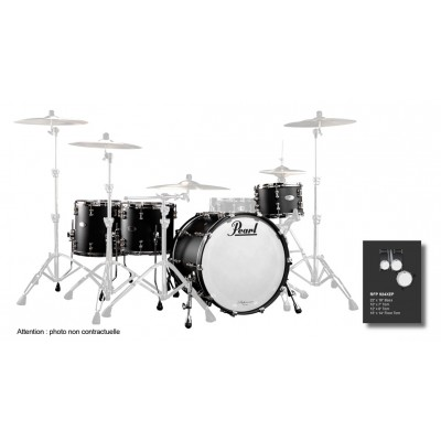 PEARL DRUMS RFP924XEPC-124 - REFERENCE PURE HYPER ROCK 22-10-12-16 MATTE BLACK