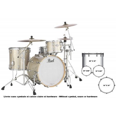 PEARL DRUMS RFP924XSPC-409 - REFERENCE PURE ROCK LIMITED 22/10/12/16 DIAMOND GLITTER