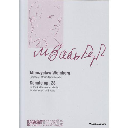 PEERMUSIC WEINBERG M. - SONATE OP. 28 - CLARINETTE ET PIANO