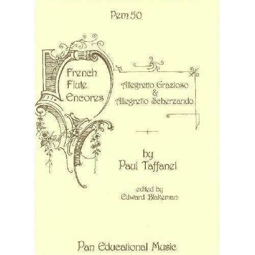 SPARTAN PRESS MUSIC TAFFANEL P. - ALLEGRETO GRAZIOSO & ALLEGRETO SCHERZANDO - FLUTE ET PIANO