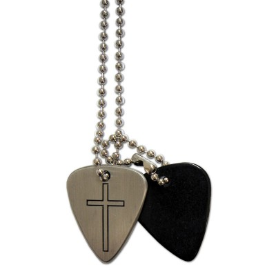 GROVER ALLMAN GUITAR PICK CROSS NECKLACE