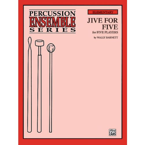 ALFRED PUBLISHING JIVE FOR FIVE - PERCUSSION ENSEMBLE