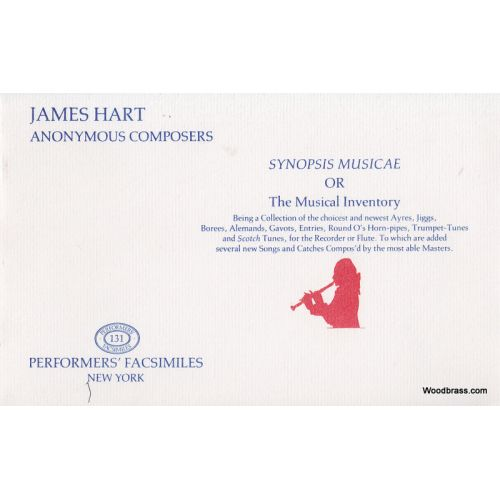 PERFORMERS' FACSIMILES HART J. - SYNOPSIS MUSICAE OR THE MUSICAL INVENTORY