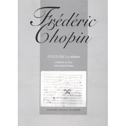 HIT DIFFUSION CHOPIN FREDERIC - FUGUE EN LA MINEUR - PIANO