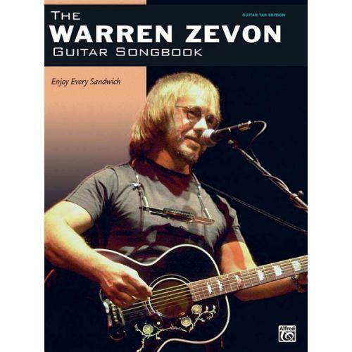 ALFRED PUBLISHING ZEVON WARREN - GUITAR SONGBOOK - GUITAR TAB