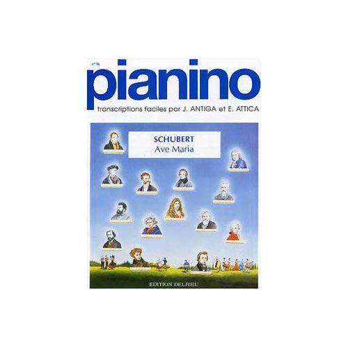 EDITION DELRIEU SCHUBERT FRANZ - AVE MARIA - PIANINO 16 - PIANO
