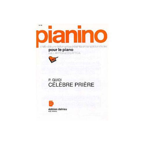 EDITION DELRIEU GUIDI P. - PRIERE - PIANINO 96 - PIANO