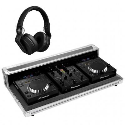 PIONEER DJ 2 x CDJ350 + 1 x DJM350 + 1 x FLIGHT CASE + 1 x HDJ700-K