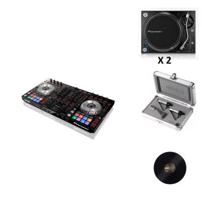 PIONEER DJ PACK DDJ-SX2 + 2X PLX-1000 + SER-SCV-PF-BLK-2 + CONCORDE TWIN S-120