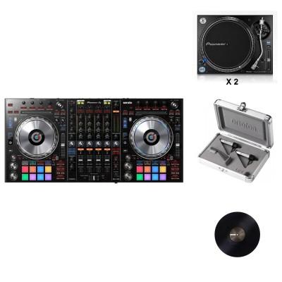 PIONEER DJ DDJ-SZ2 + 2 X PLX-1000 + CONCORDE TWIN S-120 + SERATO BLACK 12