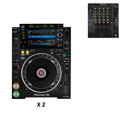 PIONEER DJ PACK DJM850 BLACK + 2X CDJ-2000NXS2