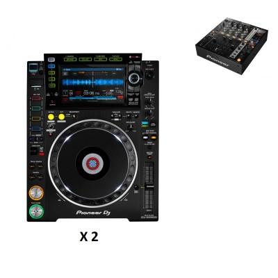 PIONEER DJ PACK DJM750 BLACK + 2X CDJ-2000NXS2